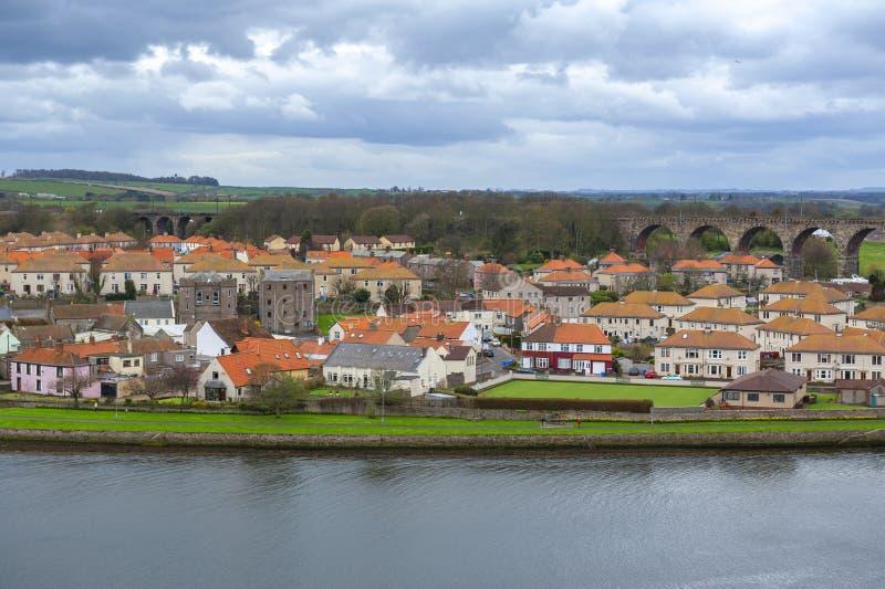 Tweedmouth, un village de Berwick-sur-tweed situé sur la rive sud du tweed de rivière dans le Northumberland, Angleterre, R-U image stock