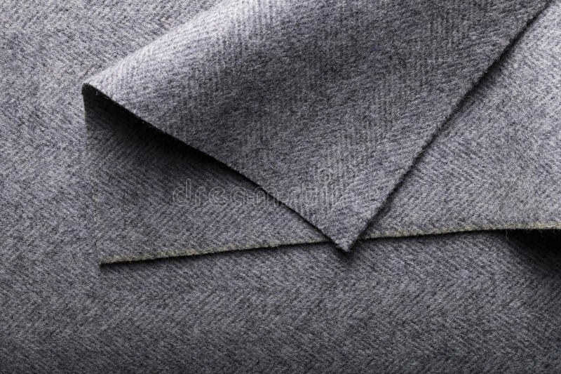 Tweedstof, textielachtergrond van de wol de grijze visgraat royalty-vrije stock afbeelding