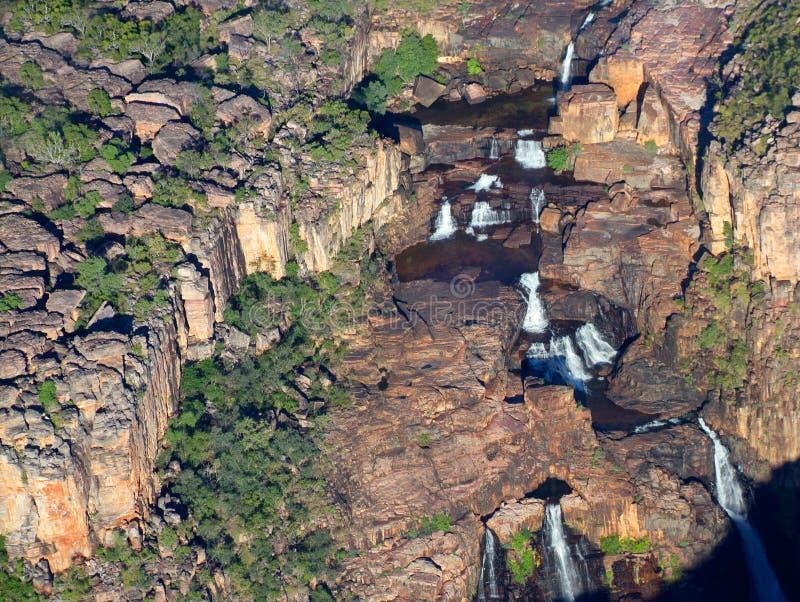 Tweeling dalingen, Kakadu N/P, Australië stock afbeeldingen