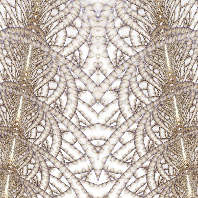Tweeling Fractal Torens vector illustratie