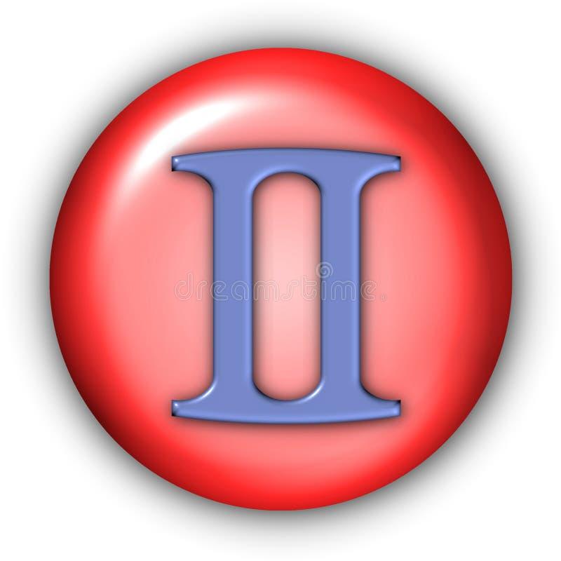 Tweeling Glyphs stock illustratie
