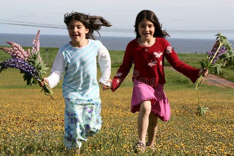 Tweeling meisjes stock fotografie