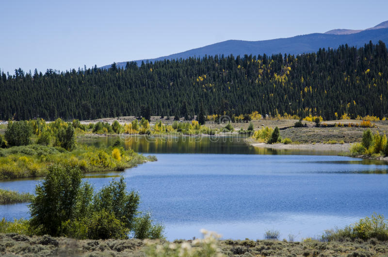 Tweeling Meren Colorado royalty-vrije stock foto