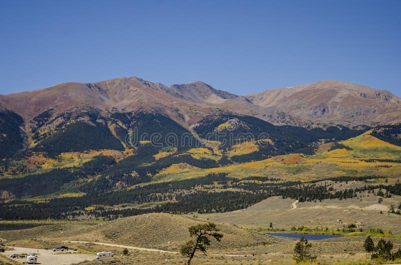 Tweeling Meren Colorado stock fotografie