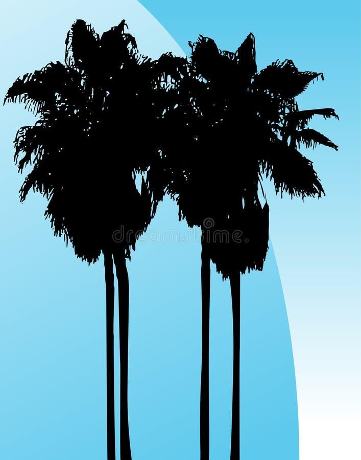 Tweeling Palmen royalty-vrije illustratie