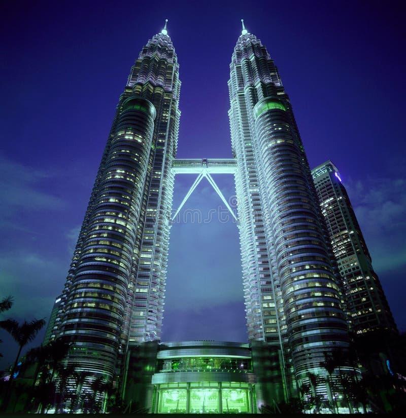 Tweeling torens in Maleisië royalty-vrije stock fotografie