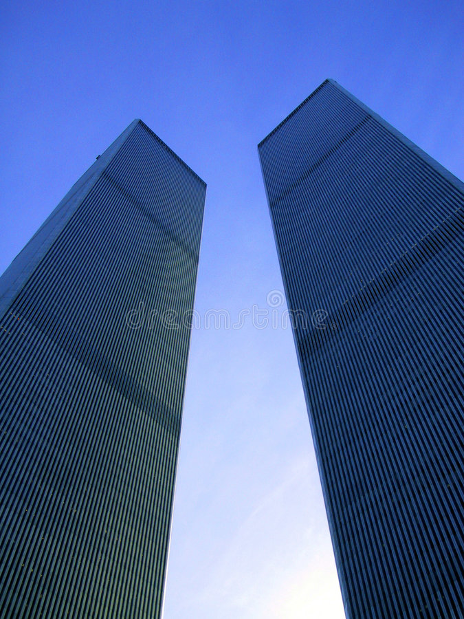 Tweeling Torens New York stock afbeelding