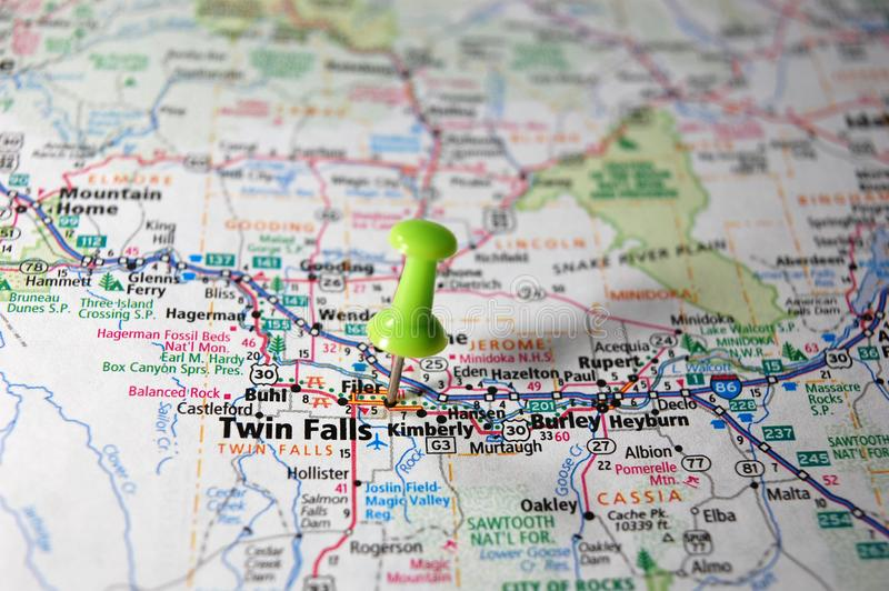Tweelingdalingen, Idaho royalty-vrije stock afbeelding