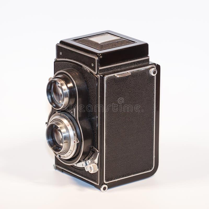 Tweelinglens Reflexcamera stock afbeelding
