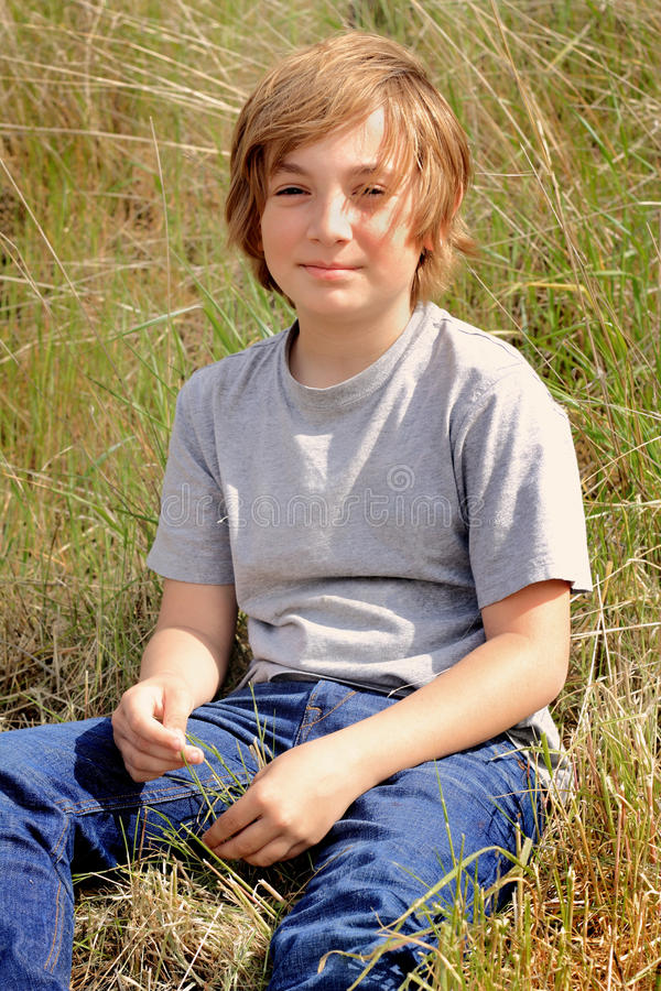 Tween Country Boy royalty free stock photography