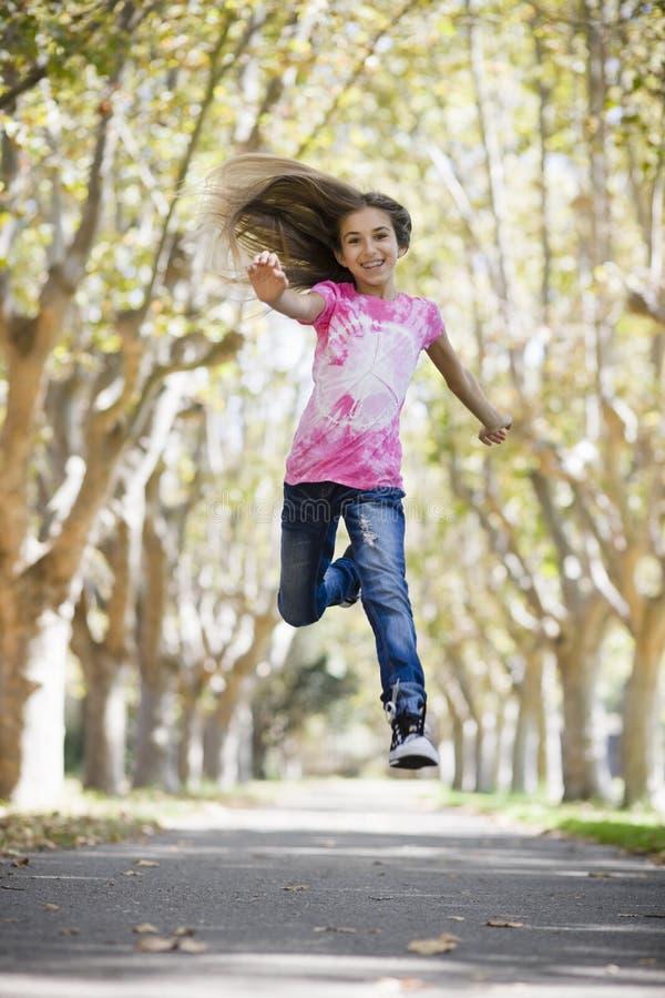 Tween Girl Jumping royalty free stock photo