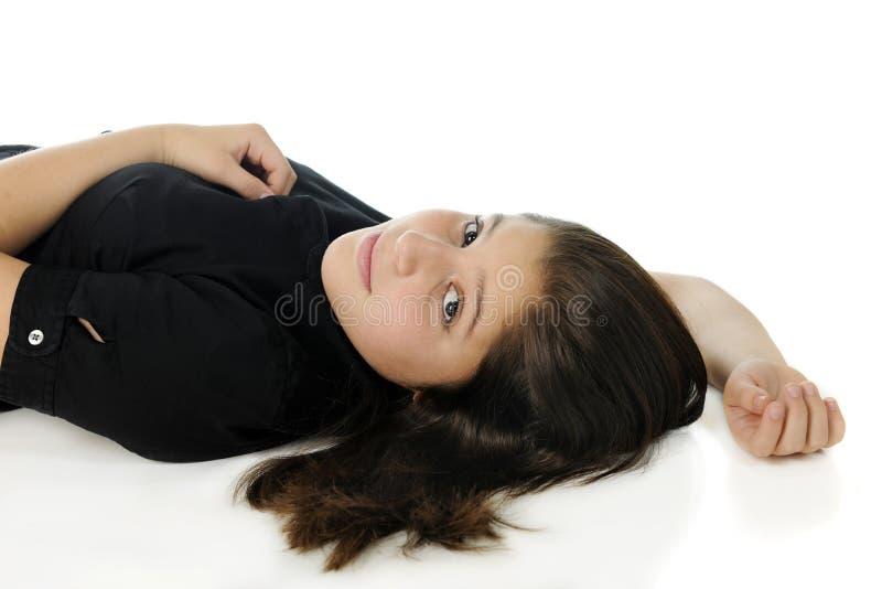 Download Tween Reclined stock photo. Image of preteen, black, attractive - 28818434