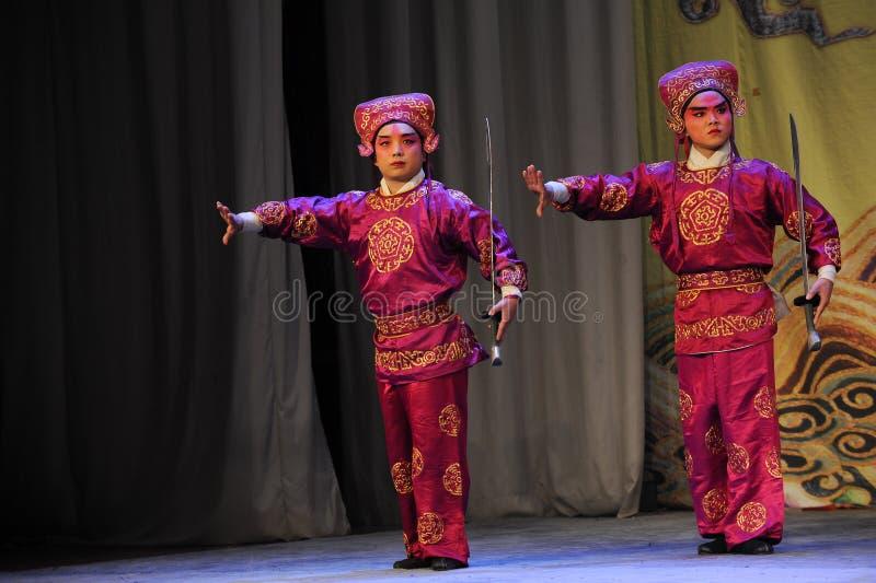 Tweepersoons - Opera: Chu Han-geschil royalty-vrije stock foto's