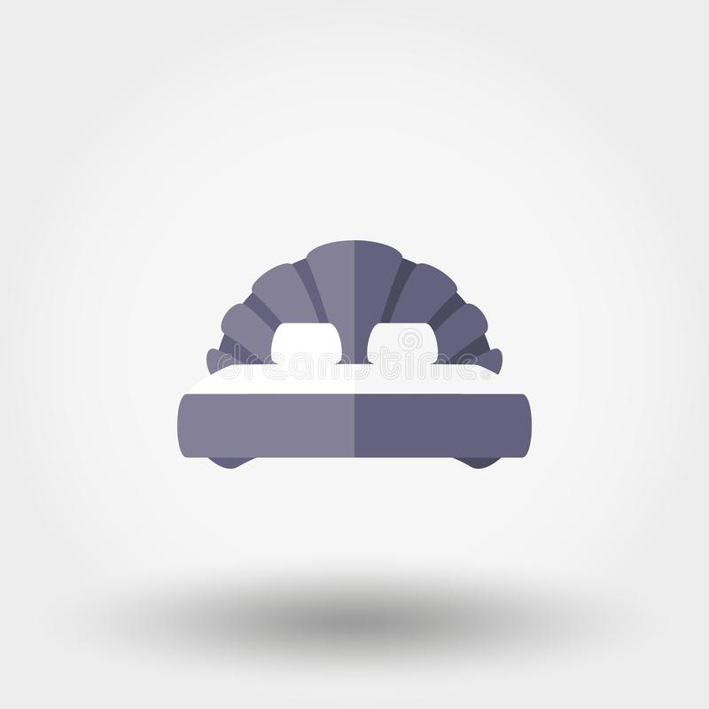 Tweepersoonsbed Shell pictogram royalty-vrije illustratie