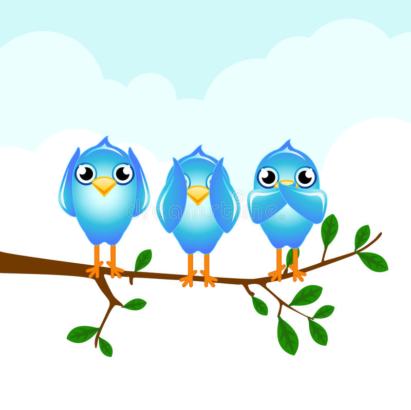 Tweet stock illustration