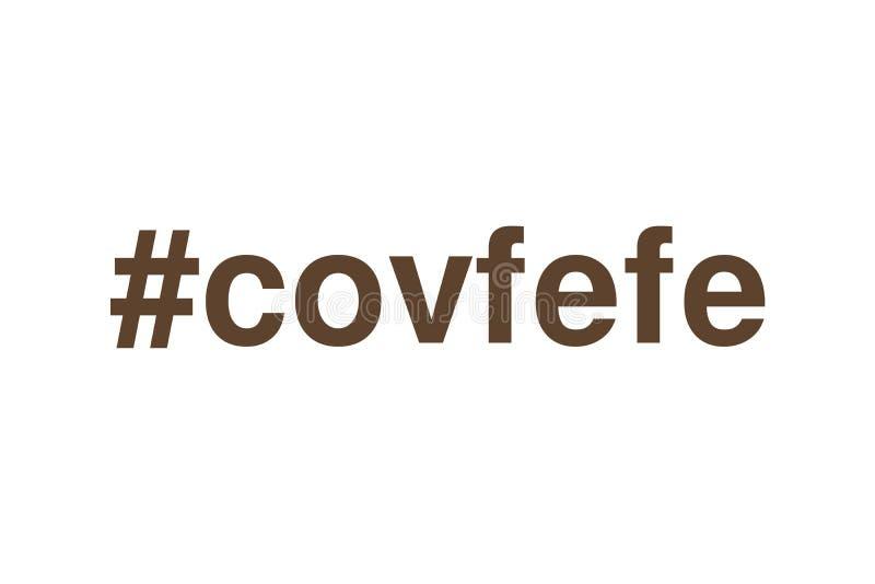 Tweet Hashtag Covfefe vektor abbildung