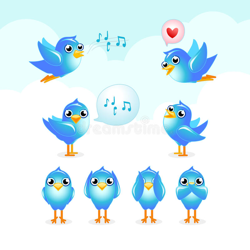 Tweet set vector illustration