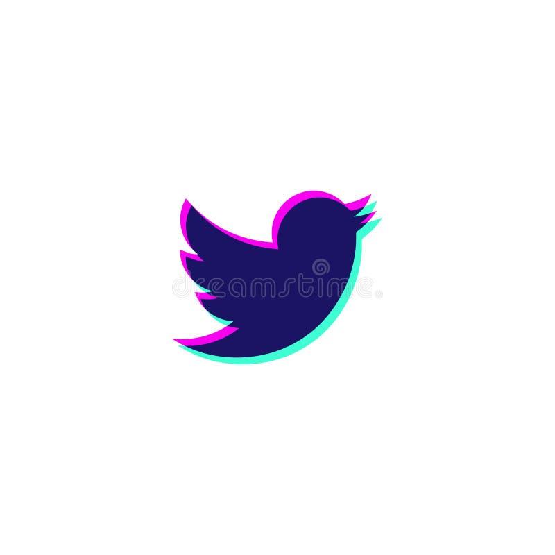 tweeter icon symbol logo vector element isolated royalty free illustration