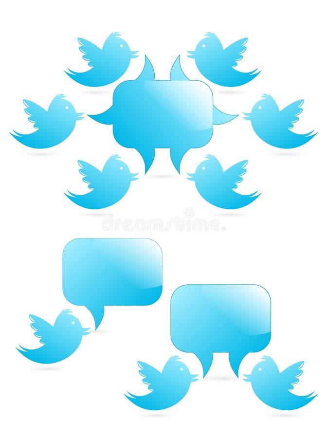 Tweeting ai seguaci illustrazione di stock