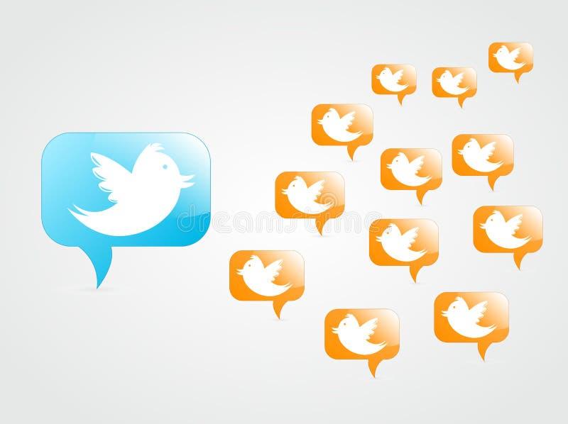Tweeting aos seguidores ilustração stock