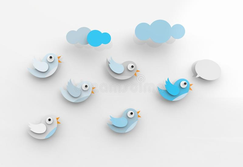 Download Tweeting Birds And Followers Royalty Free Stock Photo - Image: 30679095