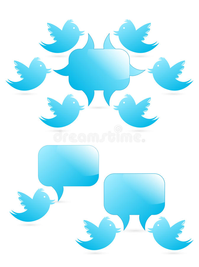 Tweeting to followers stock illustration
