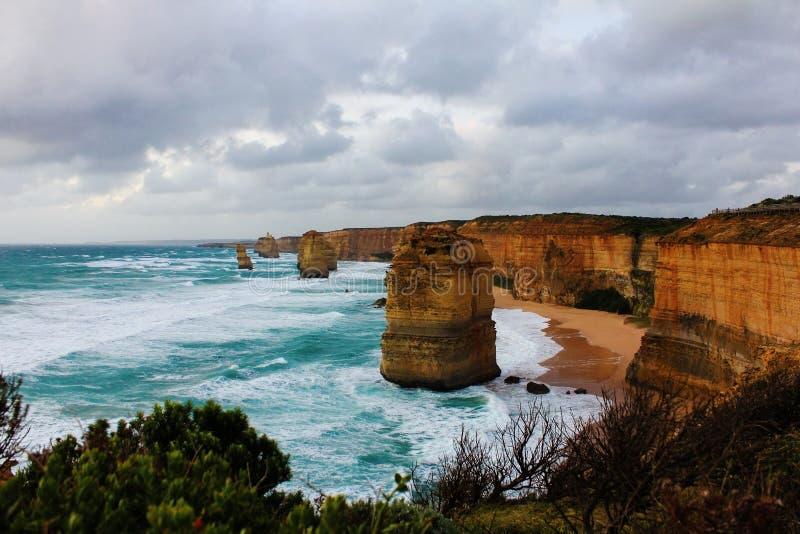 Twelve apossils victoria Australia royalty free stock photos