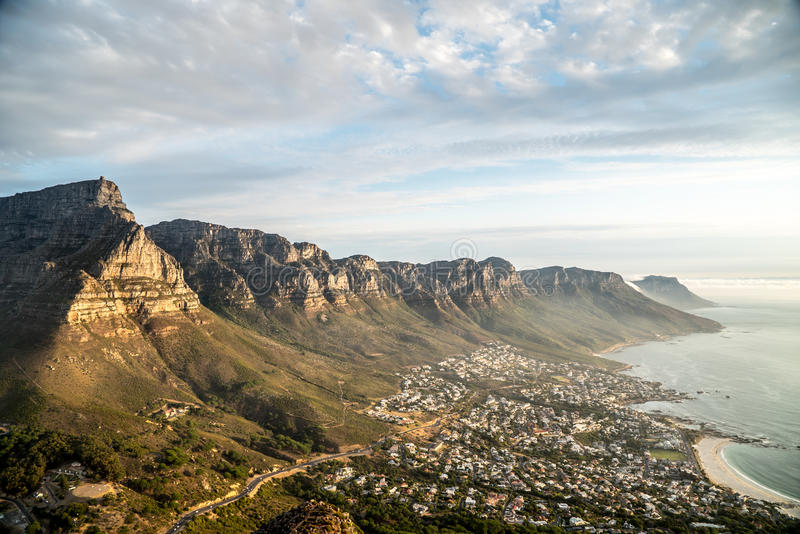 Twelve Apostles and Camps Bay stock image