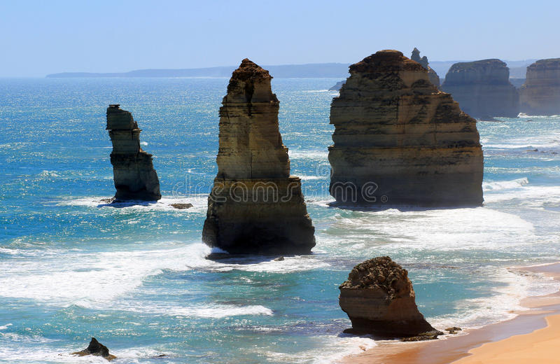 The Twelve Apostles on the Great Ocean Road. Port Campbell, Victoria, Australia stock photo