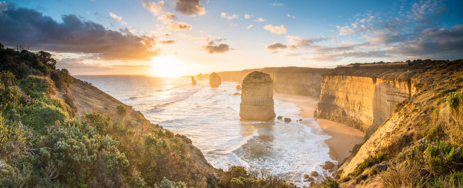 The Twelve Apostles an iconic landscape of the Great Ocean Road, Victoria state of Australia. royalty free stock image
