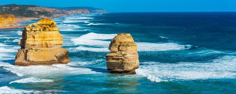 Twelve Apostles Marine National Park, Victoria, Australia. Copy space for text. Twelve Apostles Marine National Park, Victoria, Australia stock photography
