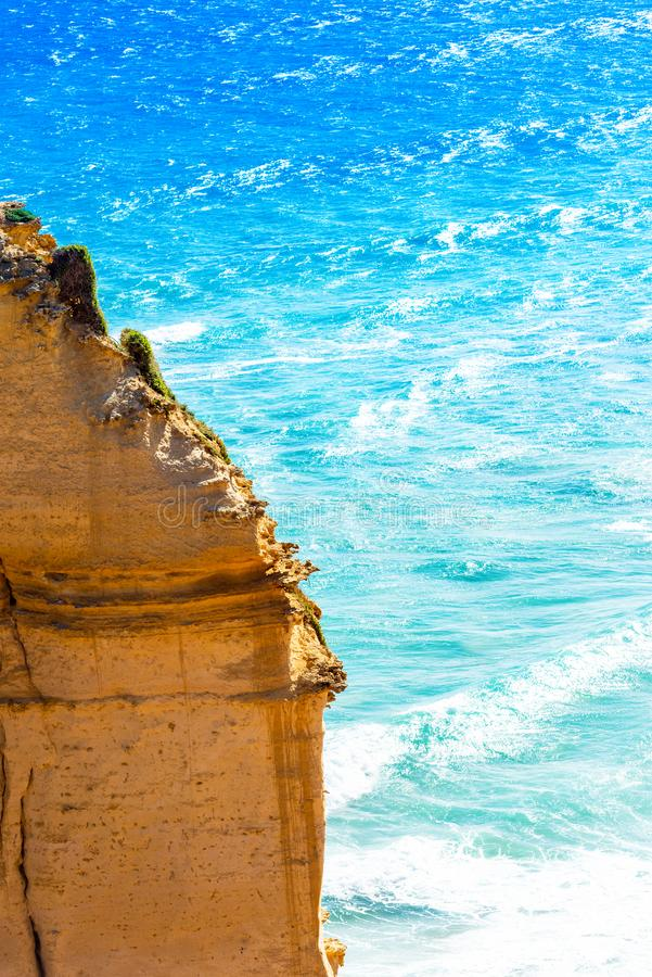Twelve Apostles Marine National Park, Victoria, Australia. Copy space for text. Vertical.  royalty free stock photography