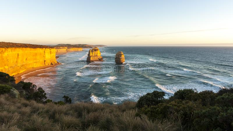 Twelve Apostles Sea Rocks near Great Ocean Road , Port Campbell National Park, Australia.  stock images