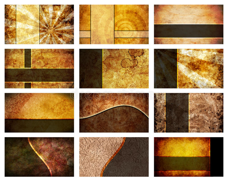 Twelve Business Card Backgrounds set vector illustration