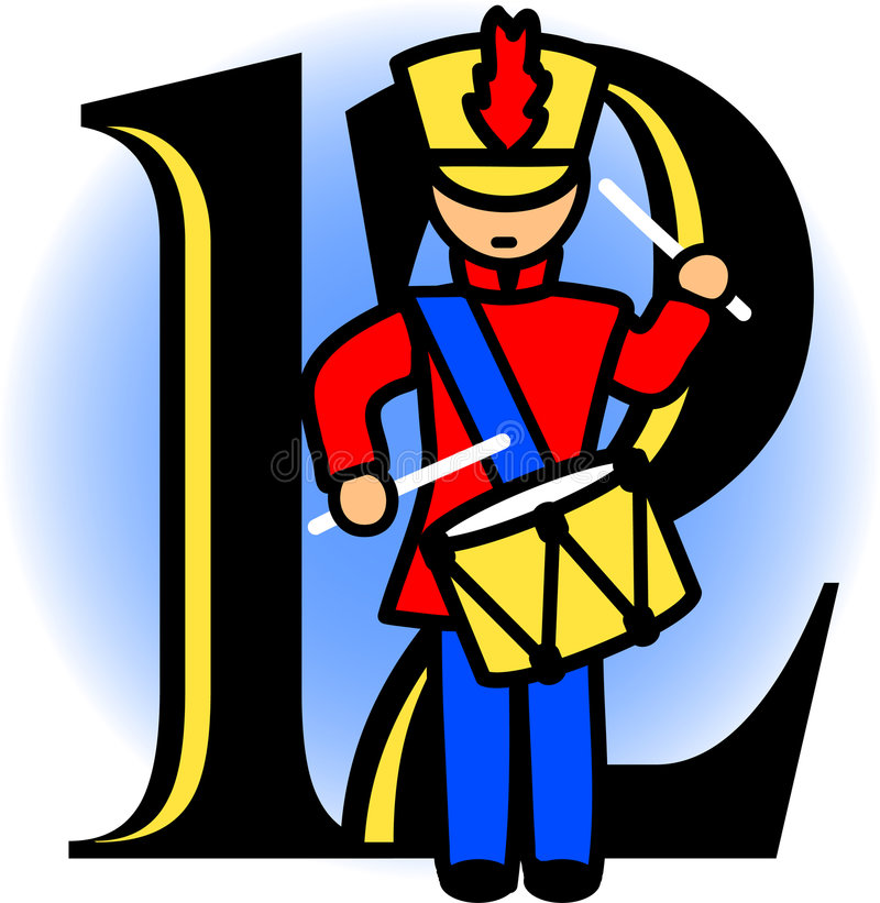 Twelve Drummers Drumming/eps royalty free illustration
