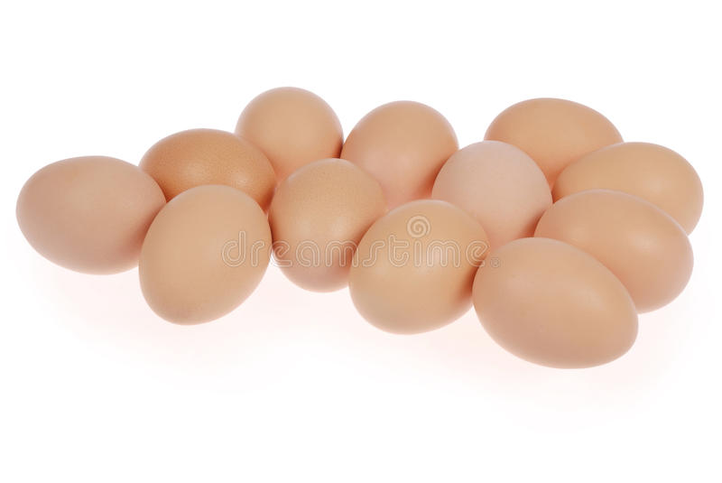 Twelve eggs royalty free stock image