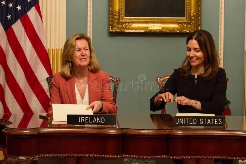 Twelve-Month Irish Work and Travel (IWT) Program Memorandum of Understanding royalty free stock photo