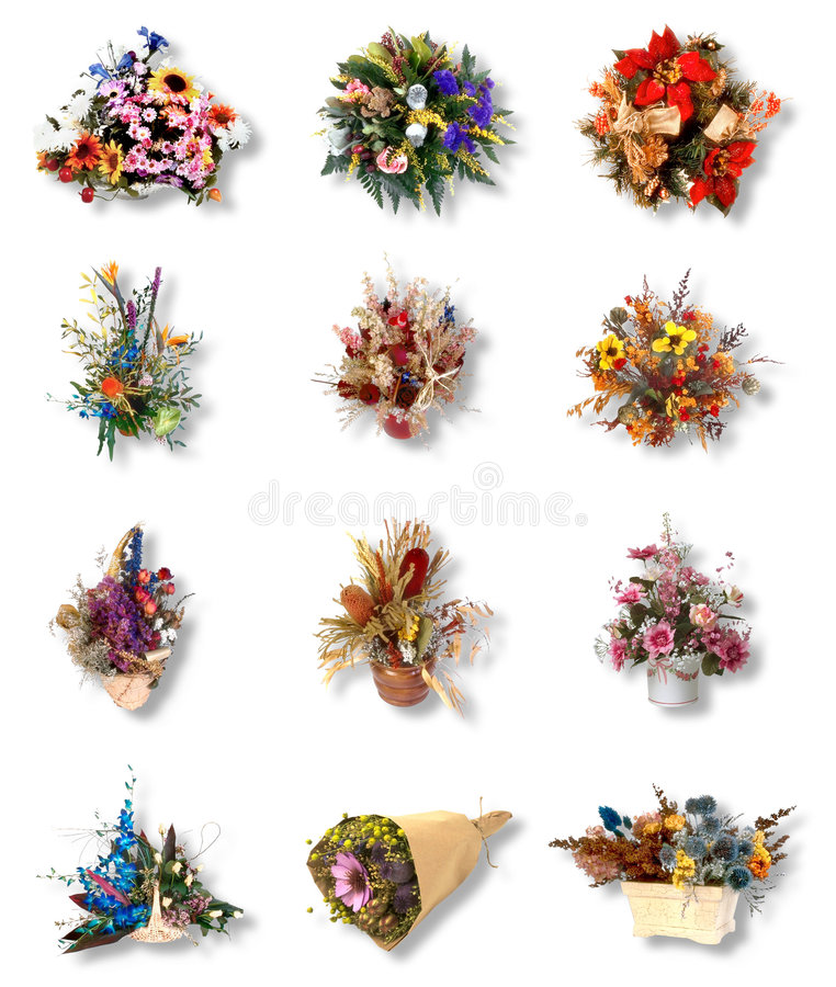 Download Twelve Very Pretty Bouquet Of Flower Stock Image - Image: 6156521