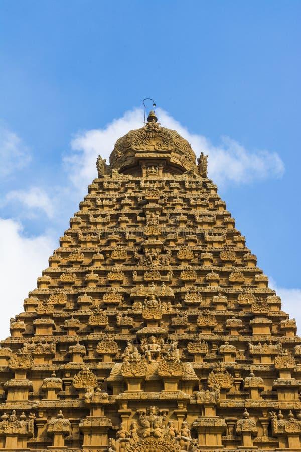 Twemple塔阿列尔景色-坦贾武尔大寺庙 库存照片