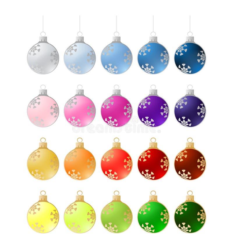 Download Twenty Colorful Christmas Balls - Illustration Stock Illustration - Illustration: 20890777