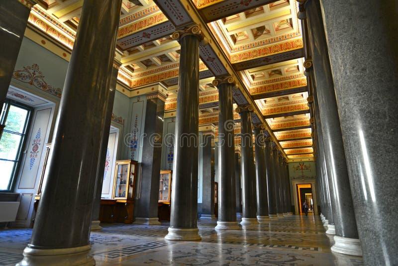 The Twenty Column Hall of winter palace stock photos