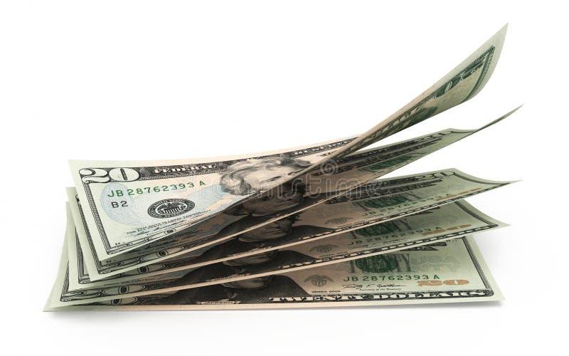 Twenty dollar banknotes stock illustration