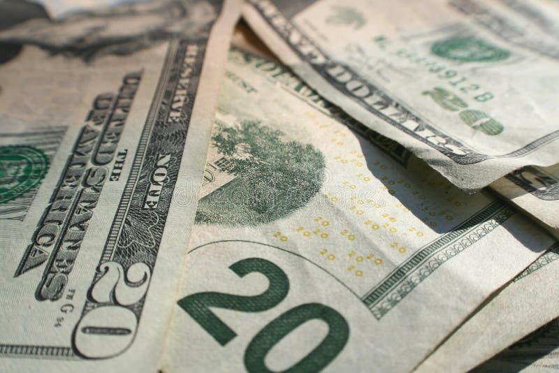 Twenty Dollar Bills Close Up royalty free stock photos