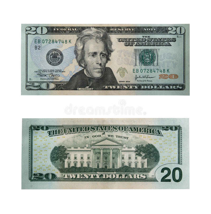 Download Twenty dollars with path stock photo. Image of cent, business - 642888