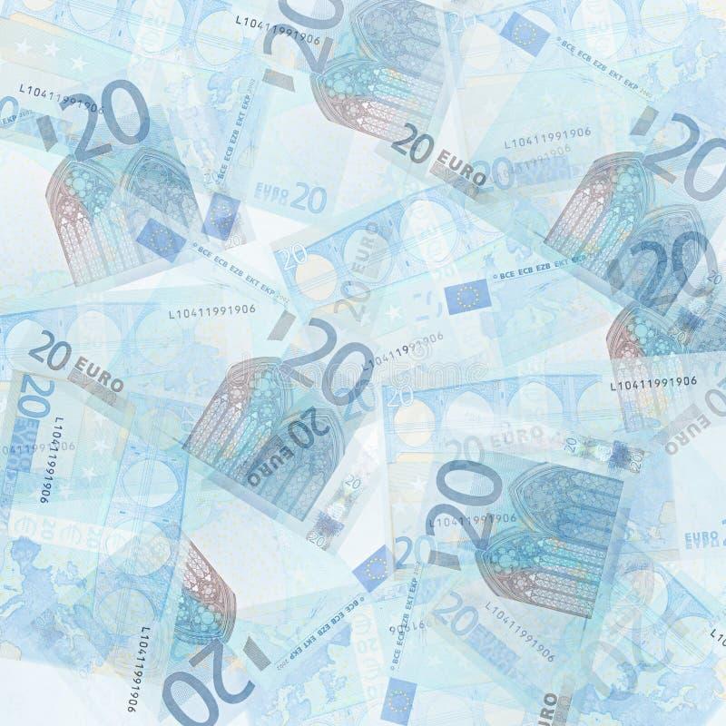 Twenty Euro Background. Abstract money background from translucent twenty euro royalty free stock images