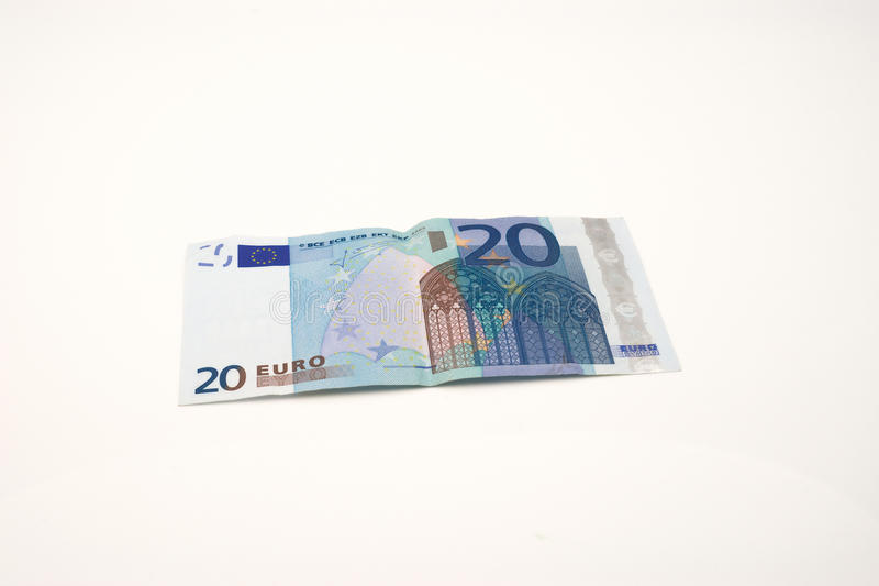 Download Twenty euro banknote stock image. Image of white, used - 11805203