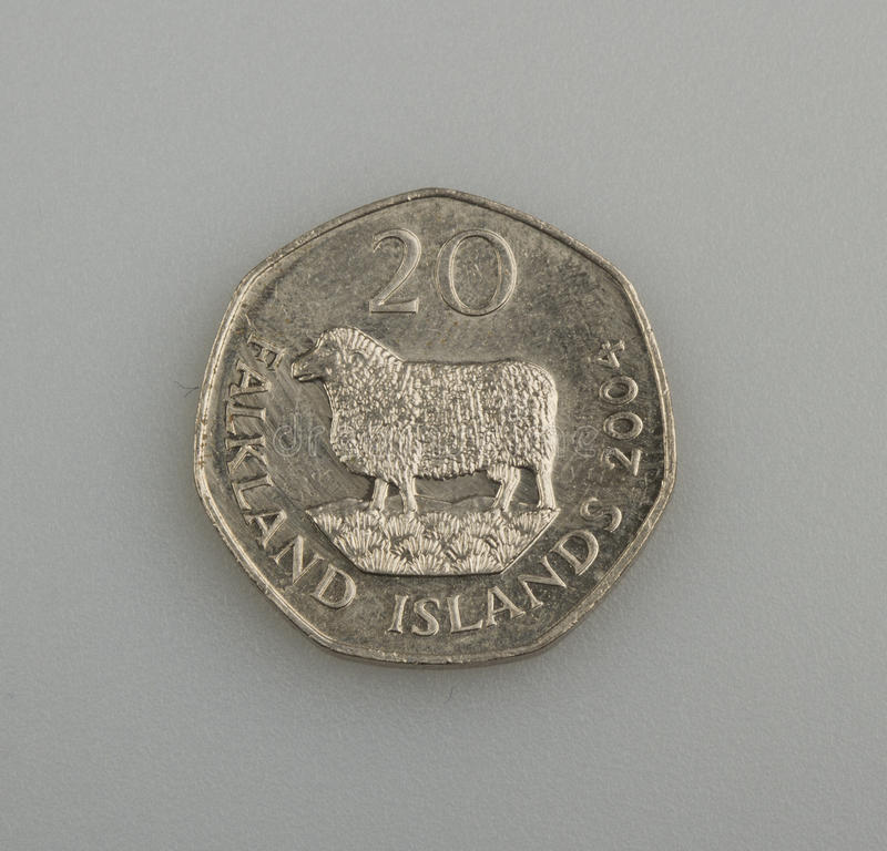 Download Twenty Pence Falkland Or Malvinas Islands. Stock Image - Image: 28348259