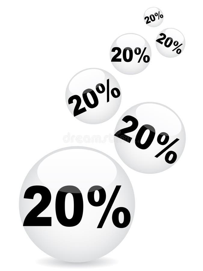Download Twenty Percent Discount Background Stock Vector - Image: 14348790