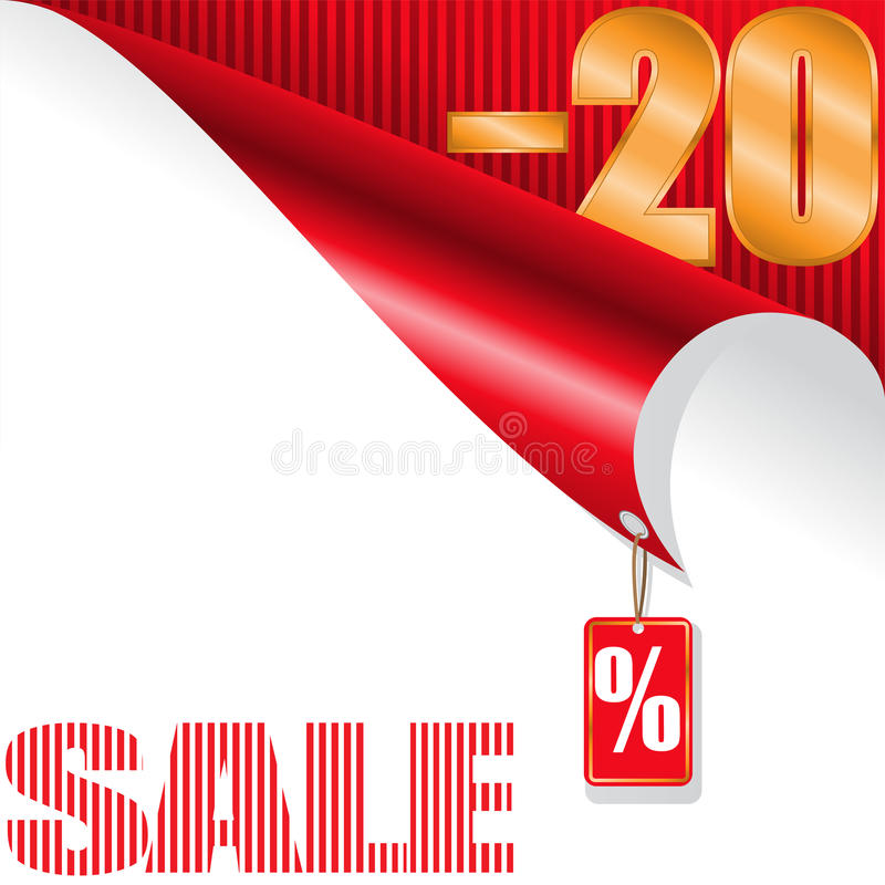 Download Twenty-percent sale stock vector. Image of icon, background - 26718773