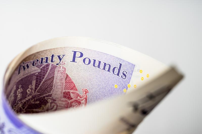 Twenty Pound Notes royalty free stock image
